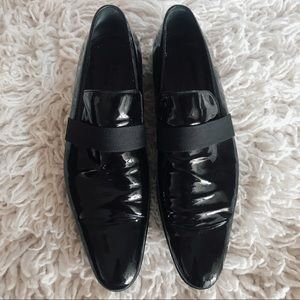 GUCCI PATENT LEATHER FLAT OXFORD POINT TOE 9